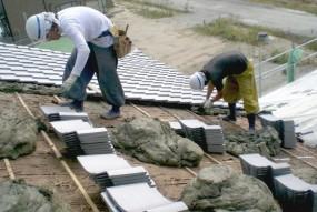 土葺き屋根工法