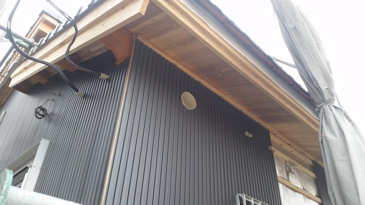 外壁ガルバリウム鋼板 西尾市寺津町 株式会社明城
