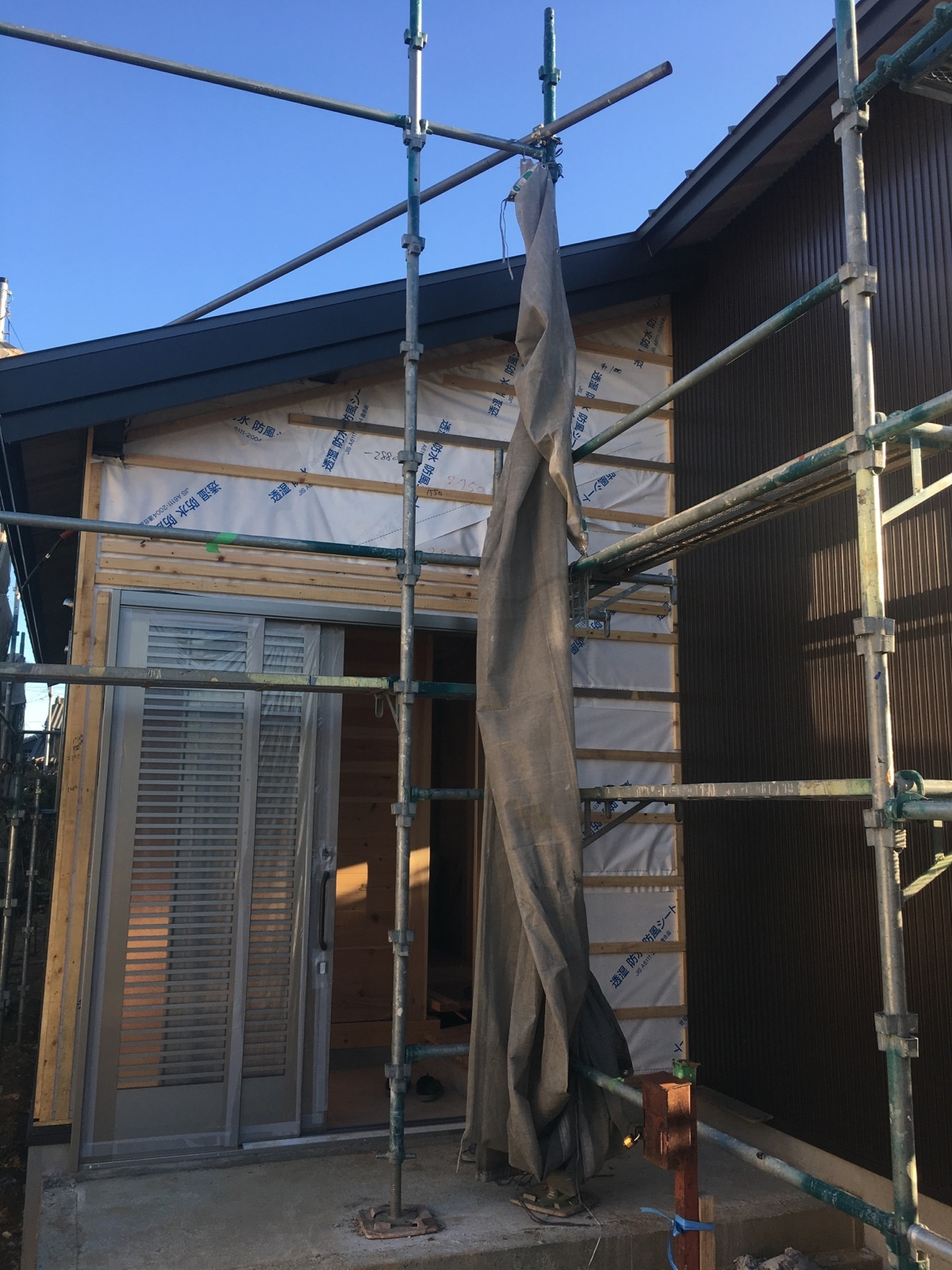 外壁ガルバリウム鋼板貼り 室内 造作 安城市新田町 株式会社明城